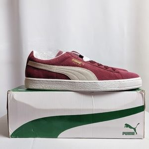Men's Suede Classic Cabernet and White Gold Pumas